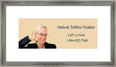 Dial Outlook Toll Free Helpline Number  Framed Print by Katharine Isabella