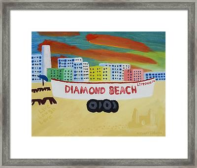 Diamond Beach Framed Print by Anthony LaRocca