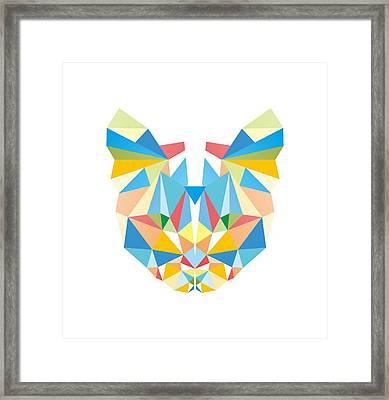 Diamond Cat Framed Print by Julia Jasiczak