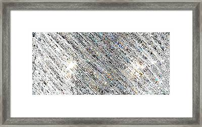 Diamond Division Abstract Framed Print by Mary Clanahan