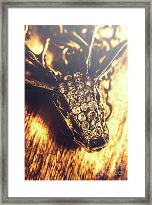 Diamond Encrusted Wildlife Bracelet Framed Print
