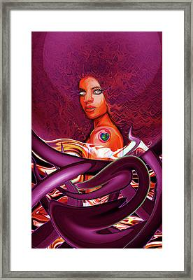 Diamond Eyes Framed Print by Kia Kelliebrew