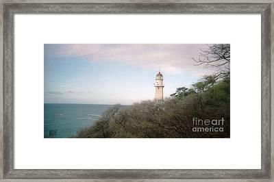 Diamond Head Light House Framed Print