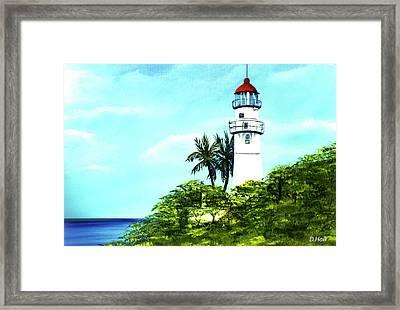 Diamond Head Lighthouse #10 Framed Print by Donald k Hall