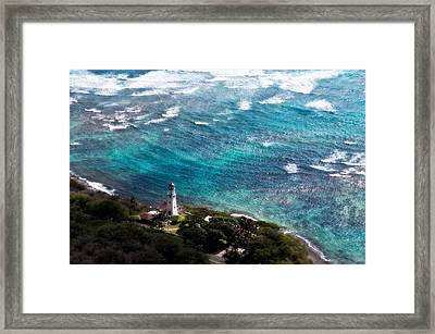 Diamond Head Lighthouse Framed Print