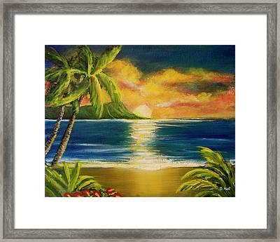 Diamond Head Sunrise #405 Framed Print by Donald k Hall