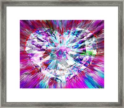 Diamond Heart Framed Print