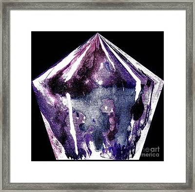 Diamond In The Rough Framed Print by Marsha Heiken