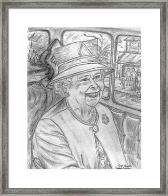 Framed Print featuring the drawing Diamond Jubilee by Teresa White