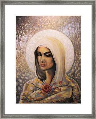 Diamond Maria Framed Print by Aleksei Gorbenko
