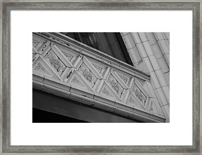 Diamond Patterns In Black And White Framed Print