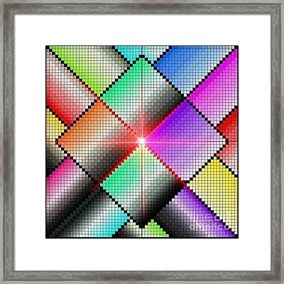 Diamond Rainbow Framed Print