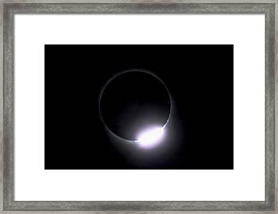 Diamond Ring During Solar Eclipse Framed Print