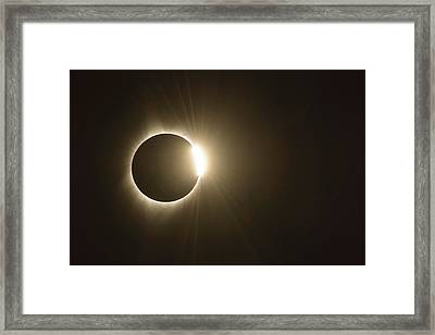 Diamond Ring Framed Print by Joe Hudspeth
