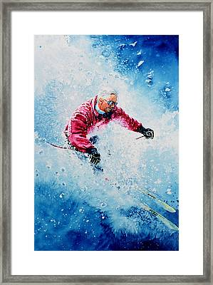 Diamond Run Framed Print by Hanne Lore Koehler