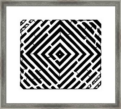 Diamond Shaped Optical Illusion Maze Framed Print by Yonatan Frimer Maze Artist