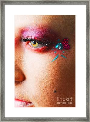 Diamond With Pink Framed Print