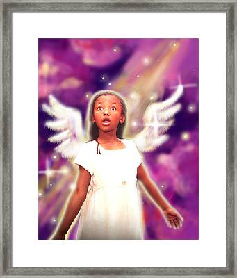 Diamond.angelic 3 Framed Print