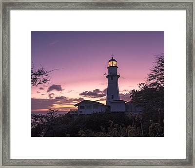 Diamondhead Lighthouse Framed Print