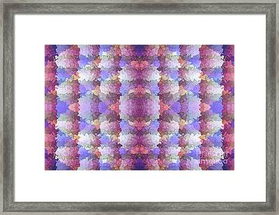 Diamonds And Lines Abstract By Kaye Menner Framed Print