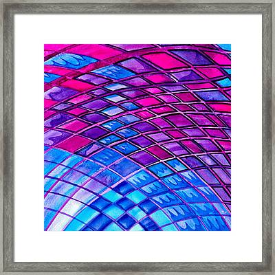 Diamonds And Lines Framed Print