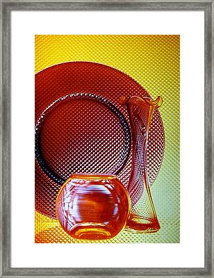 Diamonds In Glass Framed Print by Marsha Elliott