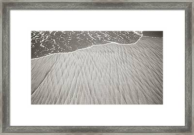 Diamonds In Its Wake Framed Print