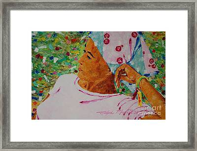 Diamonds On Soles Of Her Shoes Framed Print