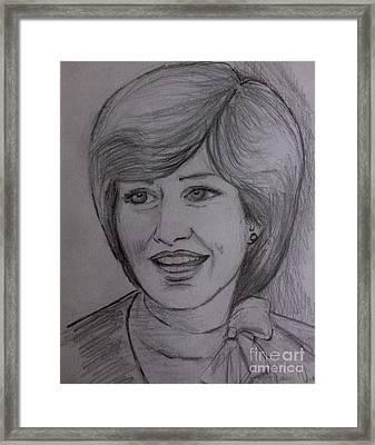 Diana 2 Framed Print by Joan-Violet Stretch