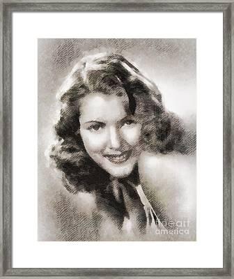 Diana Barrymore, Actress Framed Print by John Springfield