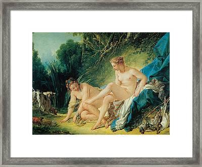 Diana Bathing Framed Print by Francois Boucher