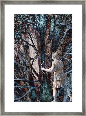 Diana In The Magic Forest Framed Print