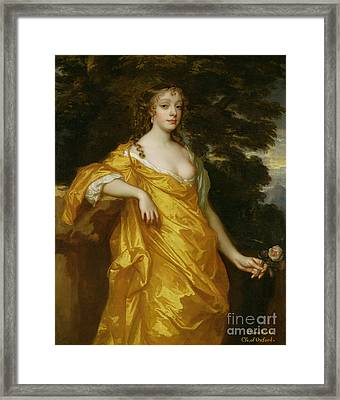 Diana Kirke-later Countess Of Oxford Framed Print by Sir Peter Lely