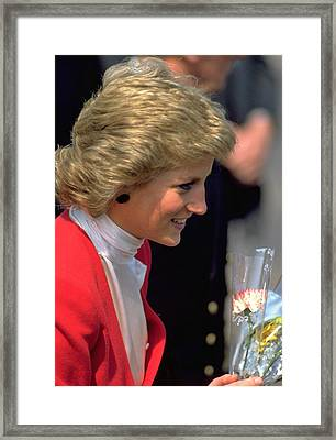 Diana Princess Of Wales Framed Print