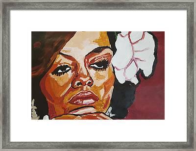 Diana Ross Framed Print