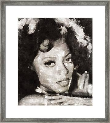 Diana Ross, Singer Framed Print