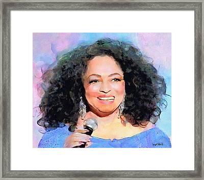 Diana Ross Framed Print by Wayne Pascall