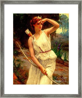 Diana The Huntress Guillaume Seignac  Framed Print