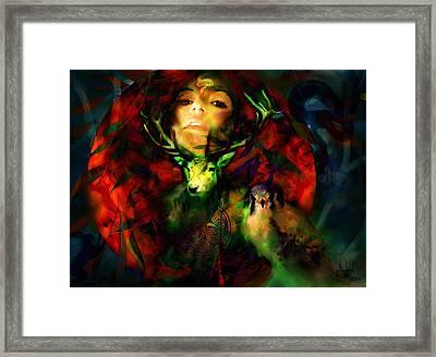 Dianas Blood Moon Framed Print by Stephen Lucas