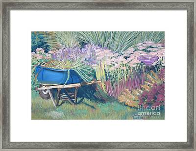 Framed Print featuring the pastel Diana's Garden by Terri Thompson