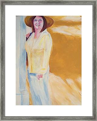 Framed Print featuring the painting Diane by Eric  Schiabor