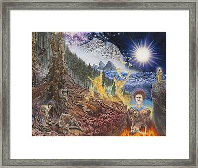 Diary Of First Recognition Framed Print