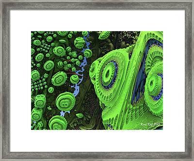 Diatom City 3 Framed Print