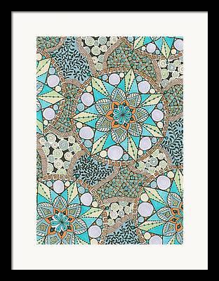 Diatoms Mixed Media Framed Prints