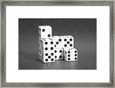 Dice Cubes I Framed Print by Tom Mc Nemar