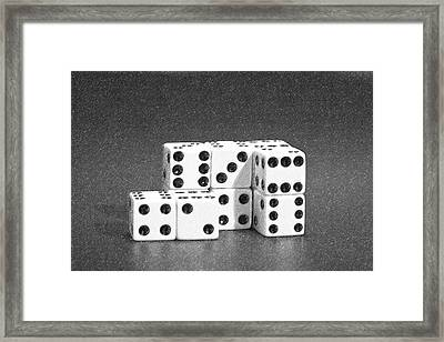 Dice Cubes II Framed Print by Tom Mc Nemar