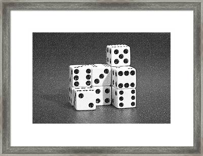 Dice Cubes IIi Framed Print by Tom Mc Nemar