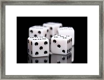 Dice I Framed Print by Tom Mc Nemar