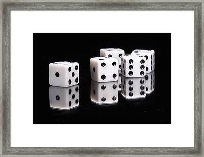 Dice II Framed Print by Tom Mc Nemar