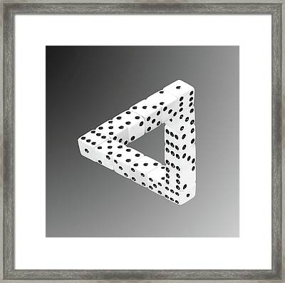 Dice Illusion Framed Print by Shane Bechler